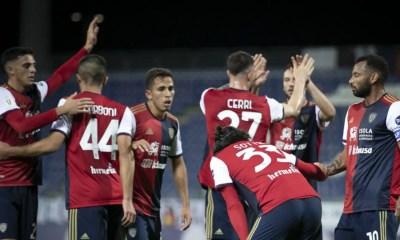 Esultanza gol giocatori Cagliari