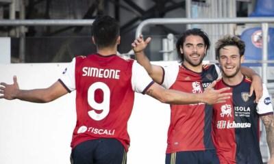 Simeone esultanza Cagliari