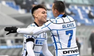esultanza gol Lautaro Martinez Sanchez Inter