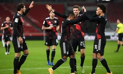 esultanza gol giocatori Bayer Monaco Bundesliga