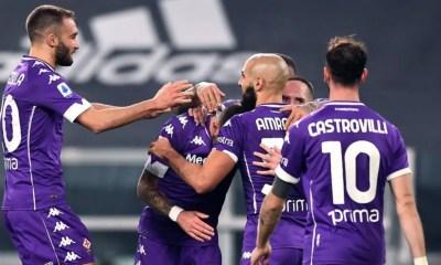 Esultanza giocatori Fiorentina