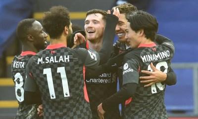 Salah esultanza giocatori Liverpool Premier League