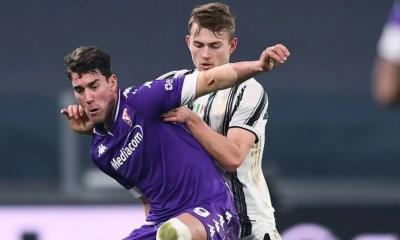 Vlahovic-de Ligt Juventus-Fiorentina