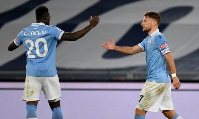Esultanza gol Immobile Caicedo Lazio
