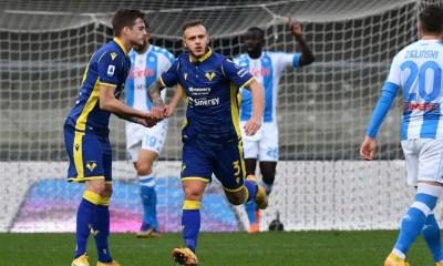 esultanza gol Dimarco Verona-Napoli