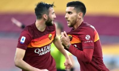 esultanza gol Lorenzo Pellegrini Roma