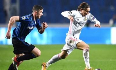 Luka Modric-Robin Gosens Atalanta-Real Madrid