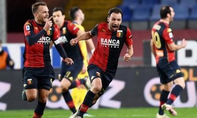 esultanza gol Milan Badelj Criscito Genoa