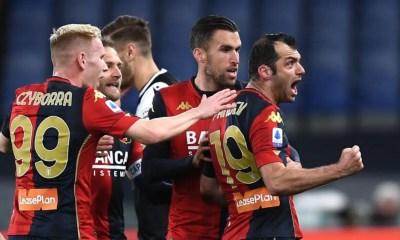 Czyborra Pandev Strootman esultanza Genoa