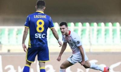 esultanza gol Diogo Dalot Verona-Milan
