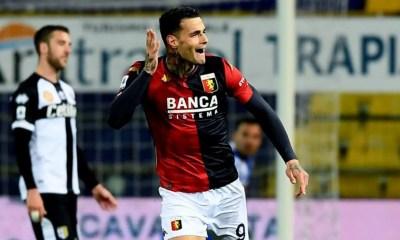 esultanza gol Gianluca Scamacca Genoa