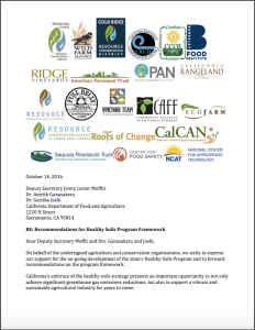 Click to view our most recent group recommendations on the Healthy Soils Program.