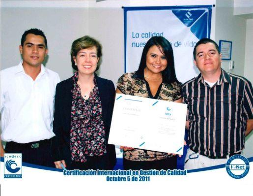 Certificación internacional en gestión de calidad Calco