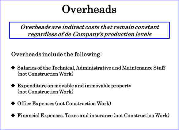 Overheads. Calculatemanhours.com