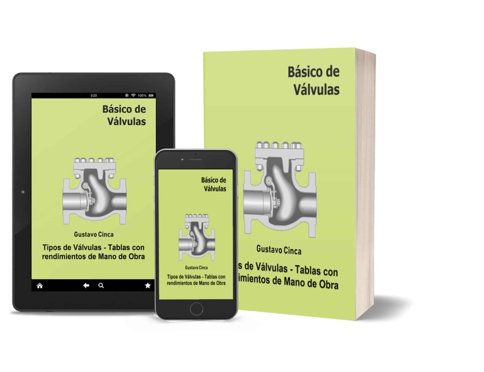 Básico de Válvulas: Tipos de Válvulas. Tablas con Rendimientos de Mano de Obra