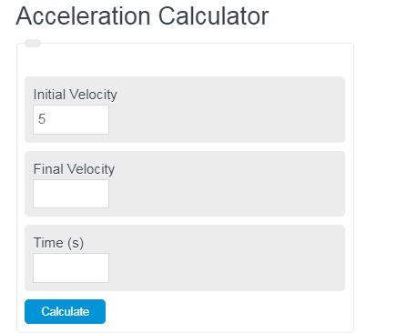 acceleration calculator