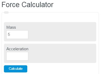 force calculator
