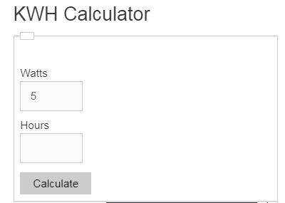 kwh calculator