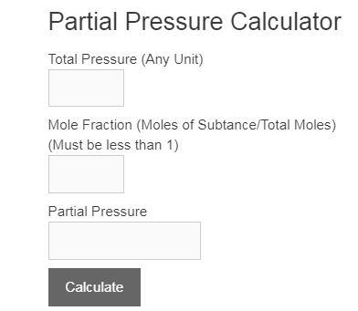 partial pressure calculator