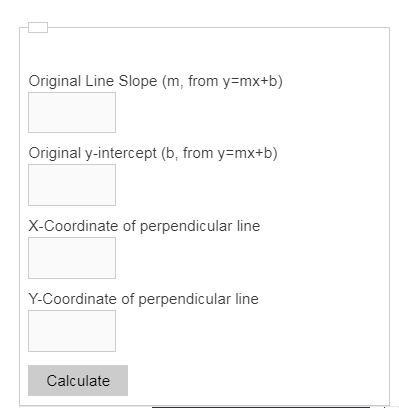 perpendicular line calculator