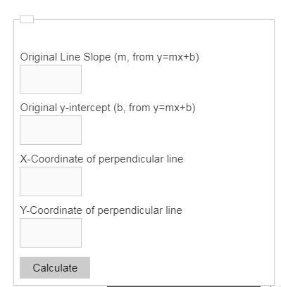 perpendicular line calculator