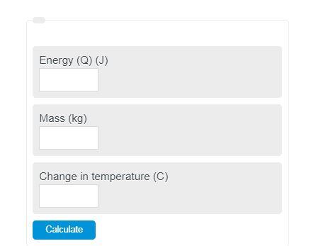 Specific heat calculator