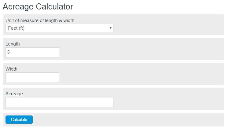acreage calculator