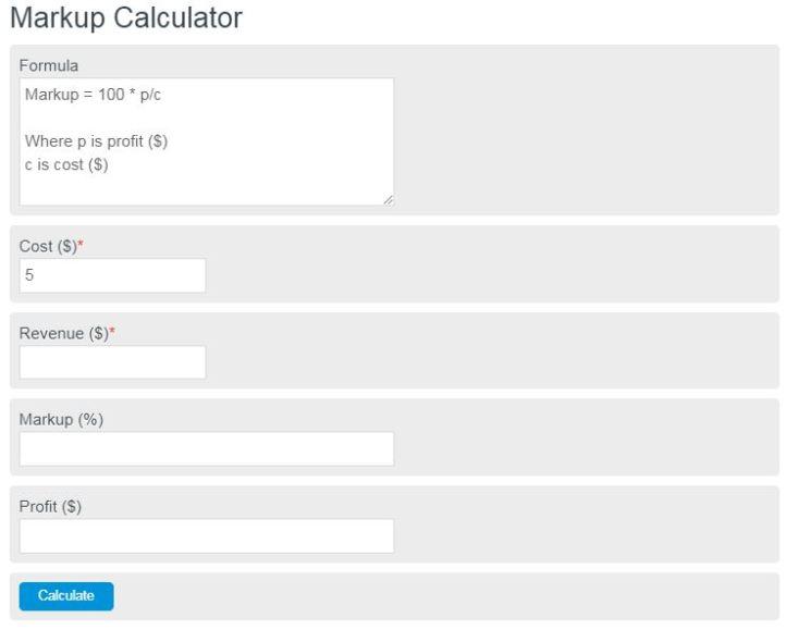 markup calculator