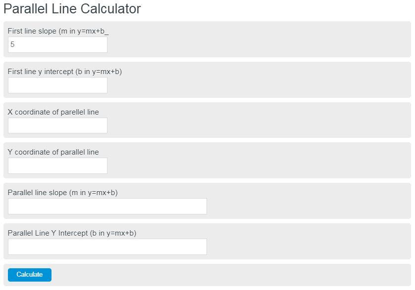 parallel line calculator