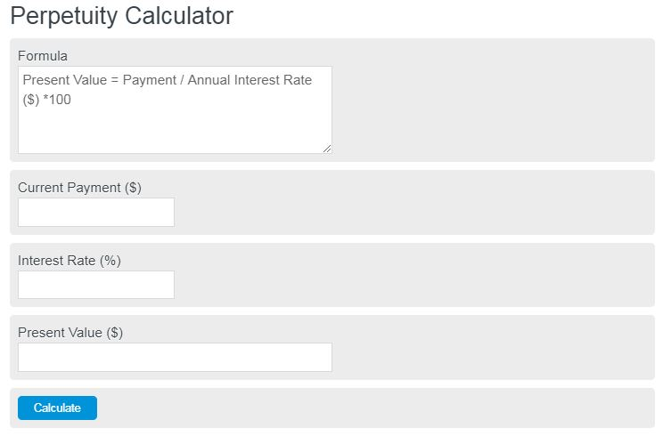 perpetuity calculator