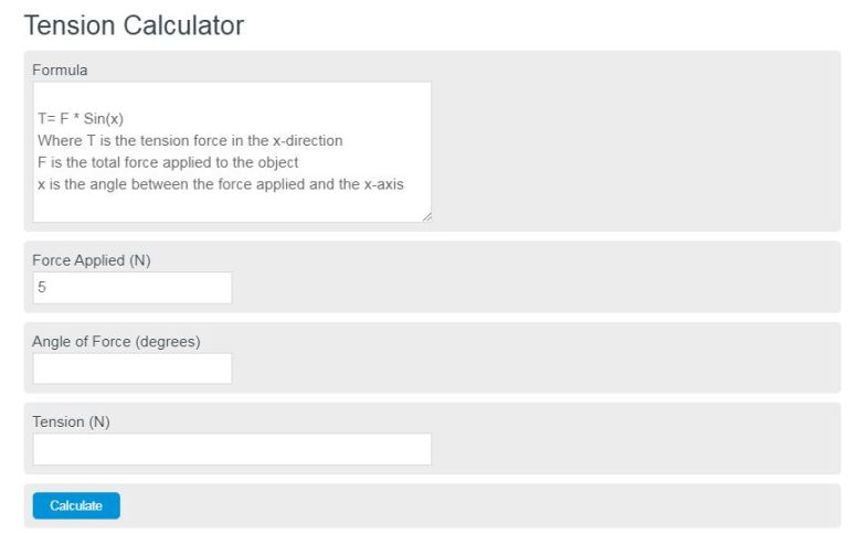 tension calculator