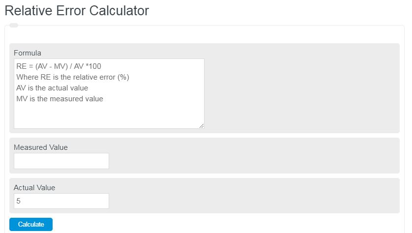 Relative Error Calculator