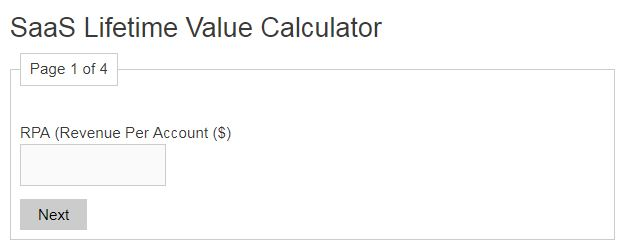 SaaS Lifetime Value Calculator