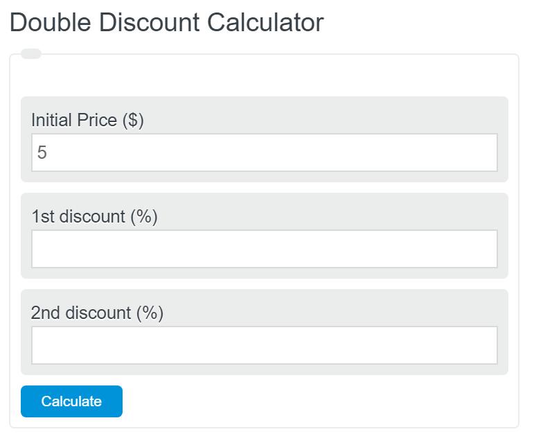 double discount calculator
