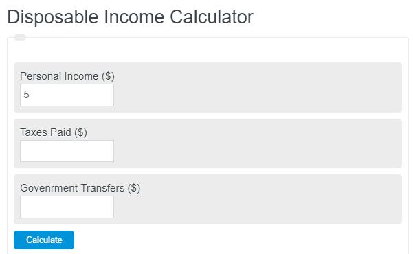 disposable income calculator