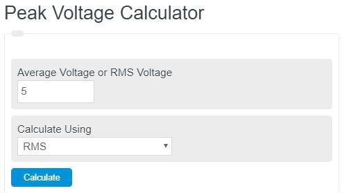 peak voltage calculator