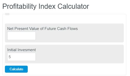 profitability index calculator