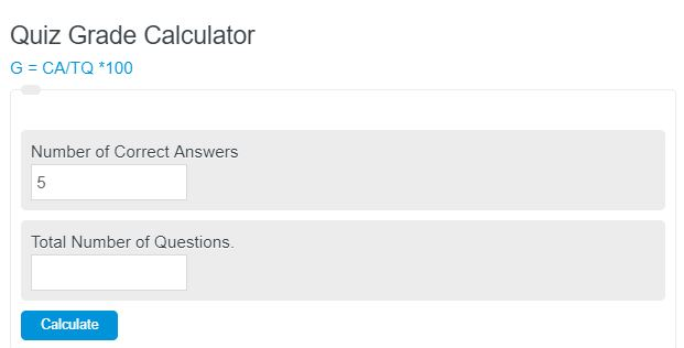 quiz grade calculator