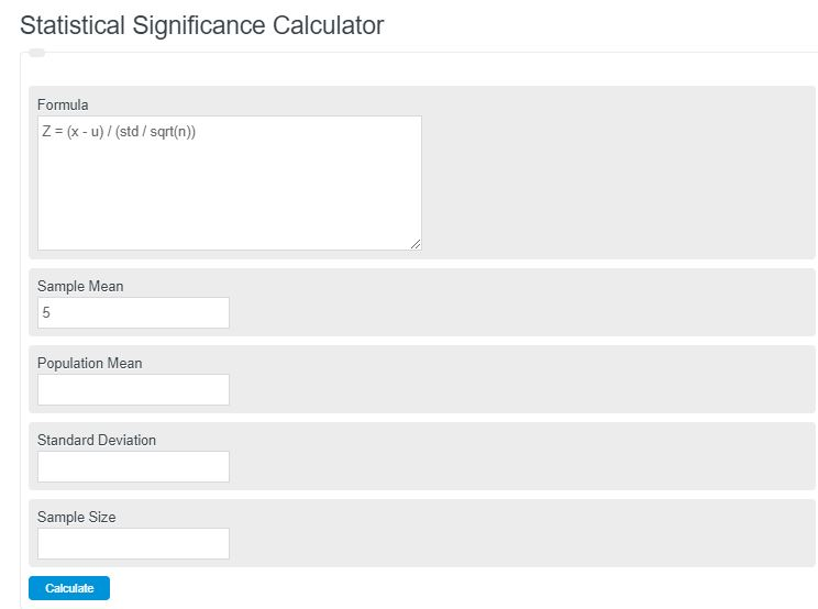 statistical significance calculator