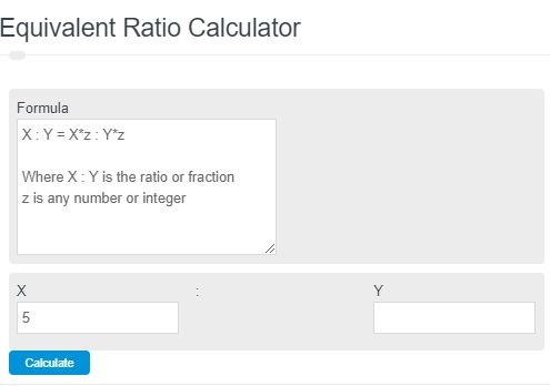 equivalent ratios calculator