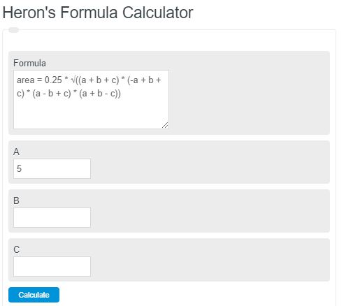 heron's formula calculator