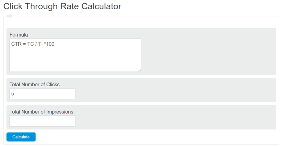 click through rate calculator