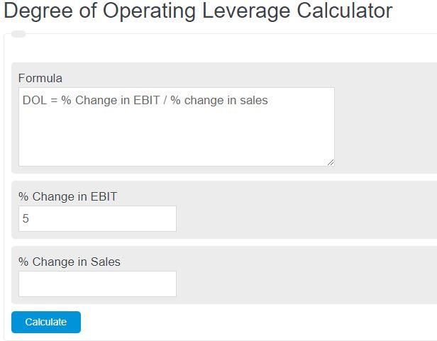 degree of operating leverage calculator