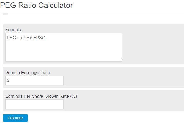 peg ratio calculator