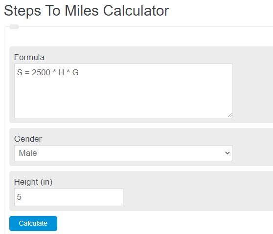 steps to miles calculator