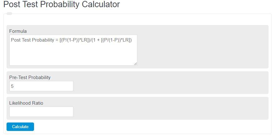 post test probability calculator
