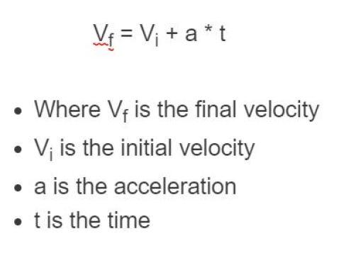 final velocity formula