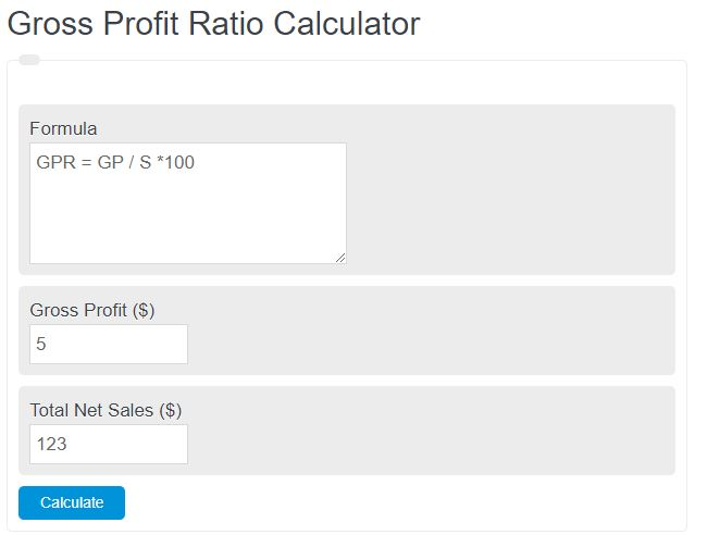 gross profit rate calculator