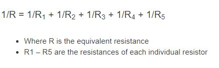 parallel resistance formula