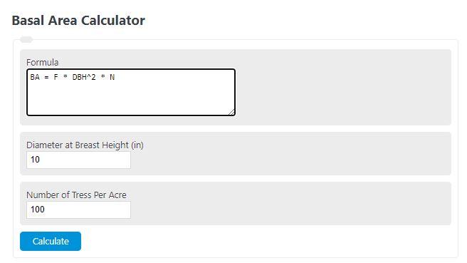 basal area calculator
